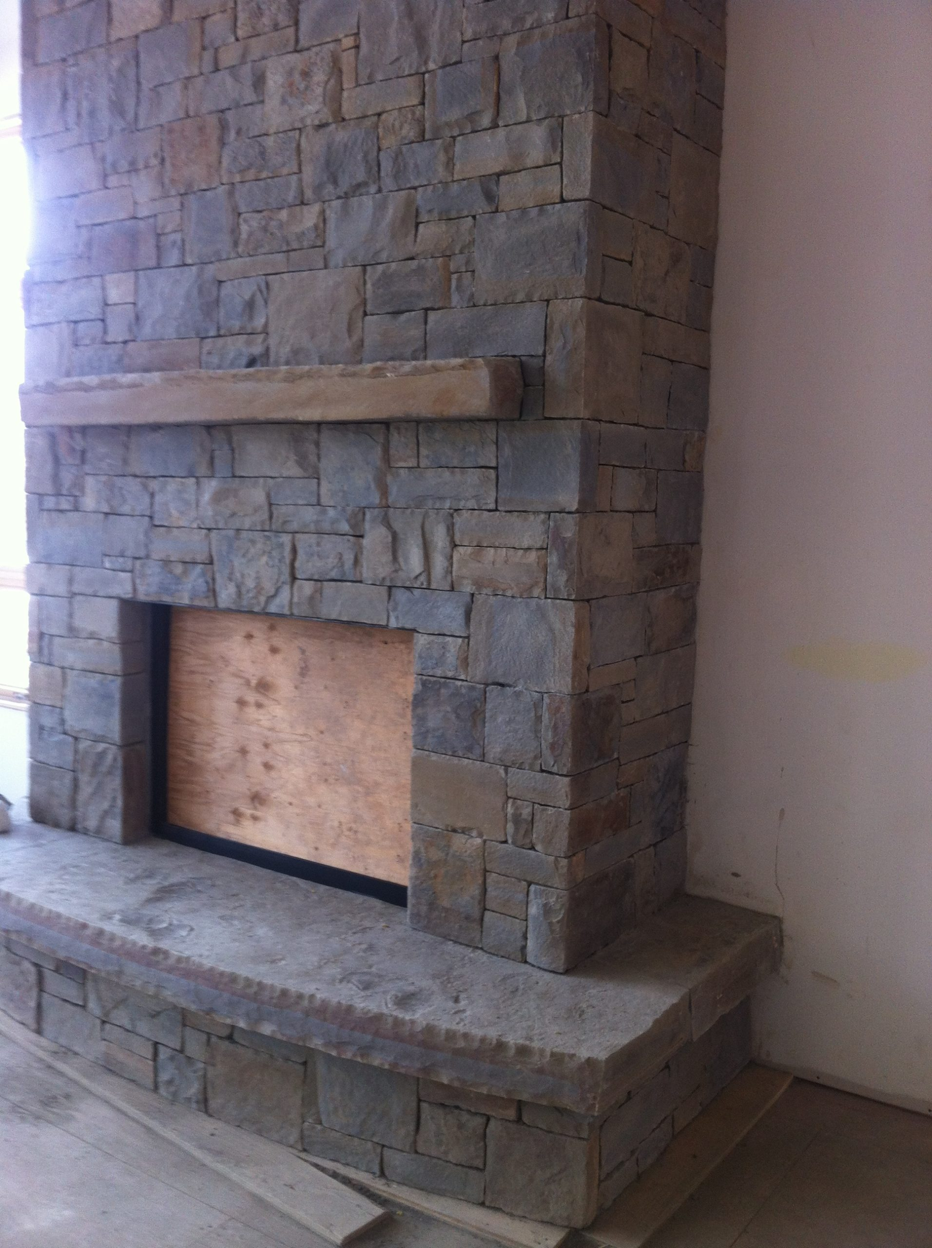 Residential fireplace, Canmore