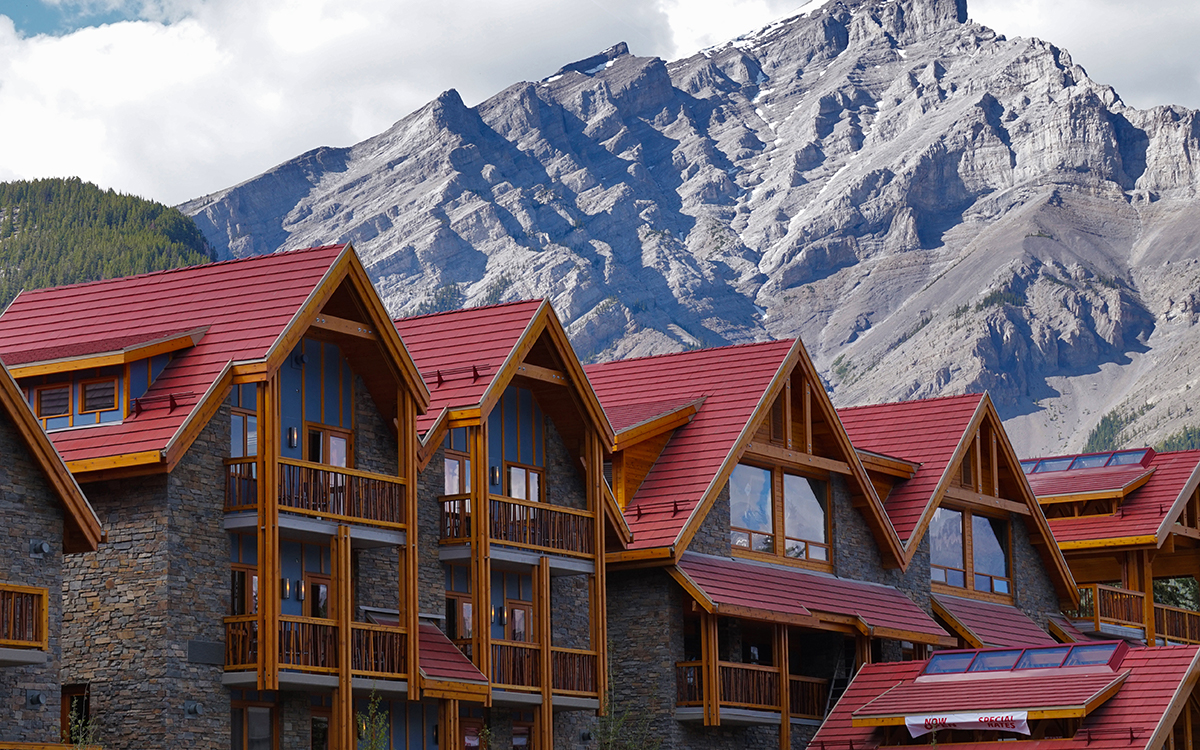 Moose Hotel exterior facing, Banff Completed hotel – June 2016