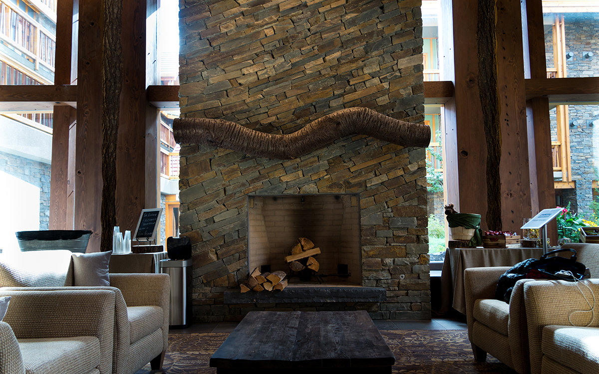 Fireplace with creative & contemporary design – Moose Hotel